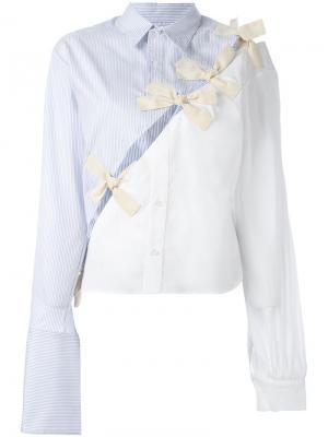 Рубашка с разрезами Jacquemus. Цвет: синий