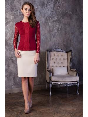 Блузка KEY FASHION. Цвет: темно-красный