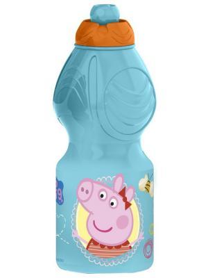 Бутылка пластиковая (спортивная, фигурная, 400 мл). Свинка Пеппа Stor. Цвет: бирюзовый