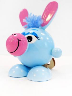 Игрушка подвеска на пружине - Ослик голубой Taowa. Цвет: голубой