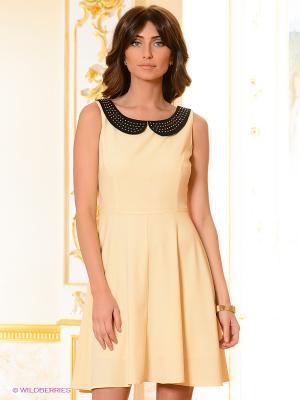 Платье Top Secret. Цвет: светло-желтый