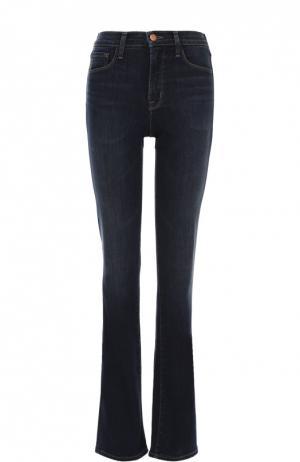 Расклешенные джинсы с завышенной талией J Brand. Цвет: темно-синий
