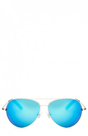 Солнцезащитные очки Matthew Williamson. Цвет: синий