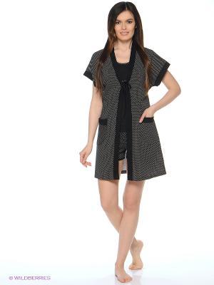 Комплект одежды Mojo Collection. Цвет: черный, серый
