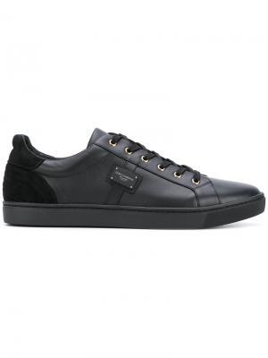 Кеды на шнуровке Dolce & Gabbana. Цвет: чёрный
