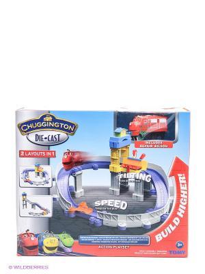Stacktrack, Игровой набор Ремонтная станция Chuggington. Цвет: красный, синий, серый