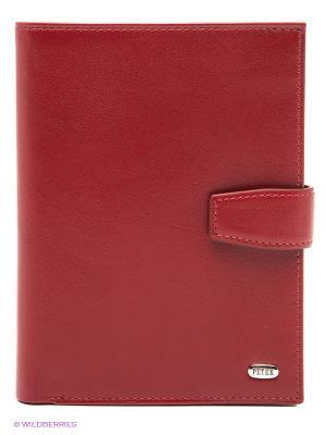Обложка на автодокументы и паспорт Petek. Цвет: бордовый, серебристый