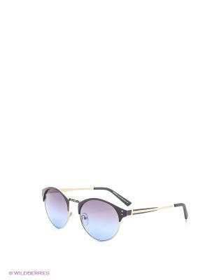 Солнцезащитные очки Vita pelle. Цвет: фиолетовый, голубой
