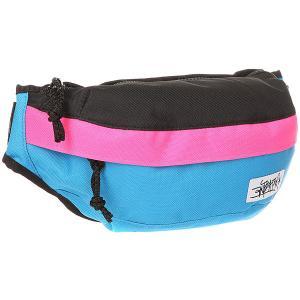Сумка поясная  Minibag Combo Blue Anteater. Цвет: голубой,розовый,черный