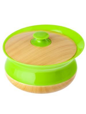 Баночка для ватных дисков VIGAR. Цвет: зеленый, бежевый