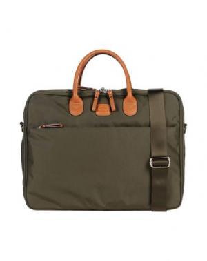 Деловые сумки BRIC'S. Цвет: зеленый-милитари