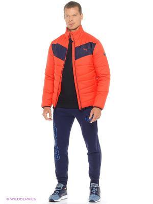 Куртка ESS Padded Jacket Puma. Цвет: красный, коралловый, темно-серый