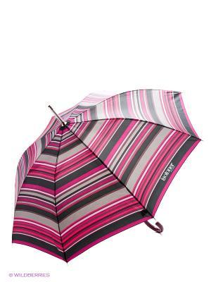 Зонт Isotoner. Цвет: сиреневый, серый