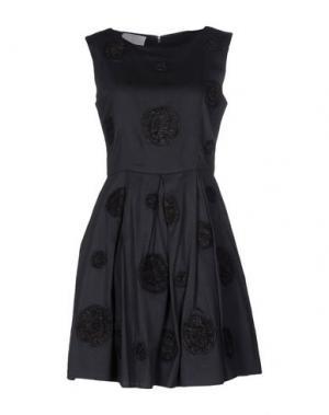 Короткое платье PRINCESSE METROPOLITAINE. Цвет: свинцово-серый
