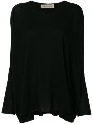 Расклешенный свитер Lamberto Losani. Цвет: чёрный