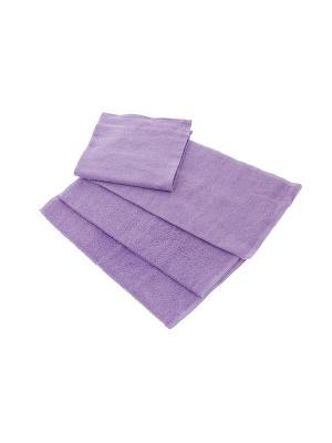 Махровое полотенце-сиреневый-50х90-100% хлопок, УзТ-МПМ-004-01-05 Aisha. Цвет: сиреневый