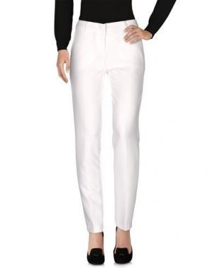 Повседневные брюки CARLA MONTANARINI. Цвет: слоновая кость