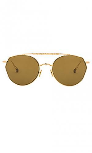 Солнцезащитные очки carree Ahlem. Цвет: металлический золотой
