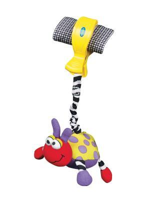 Playgro  игрушка-подвеска Божья коровка. Цвет: желтый, фиолетовый, красный