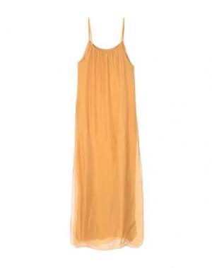 Длинное платье B.YU. Цвет: охра