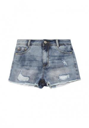 Шорты джинсовые Gulliver. Цвет: голубой