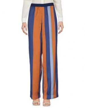 Повседневные брюки DEVOTION. Цвет: синий