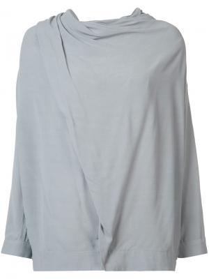 Драпированная блузка Just Female. Цвет: серый