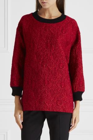 Фактурный жакет Dolce&Gabbana. Цвет: красный