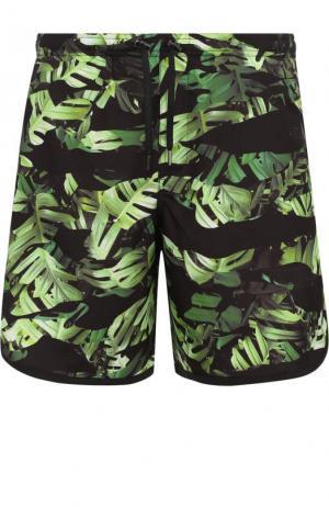 Плавки-шорты с принтом Neil Barrett. Цвет: зеленый