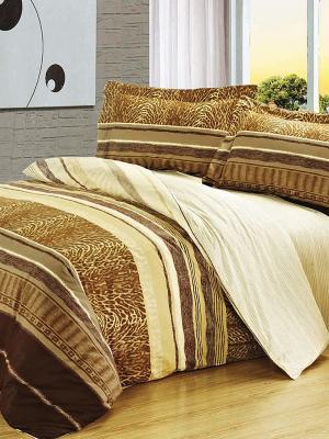Комплект постельного белья. Soft Line. Цвет: золотистый