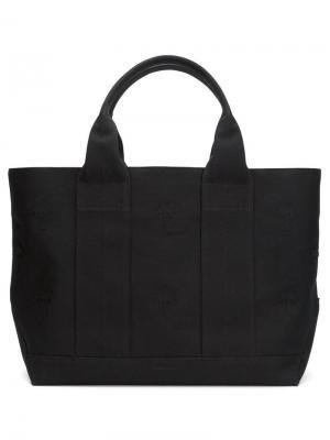 Большая сумка-тоут Tomas Maier. Цвет: чёрный
