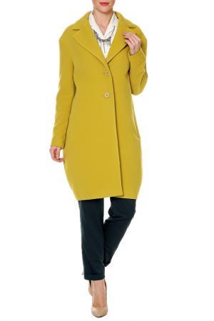 Пальто SWEETME TM. Цвет: желтый
