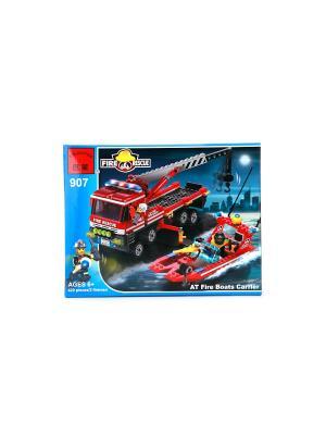 Конструктор пластиковый пожарная машина, катер ENLIGHTEN. Цвет: красный