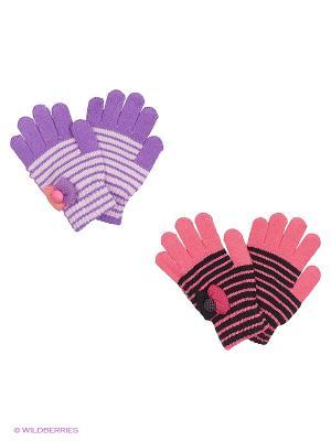 Перчатки FOMAS. Цвет: розовый, фиолетовый