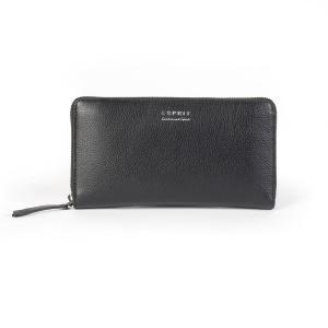 Бумажник на молнии ESPRIT. Цвет: черный