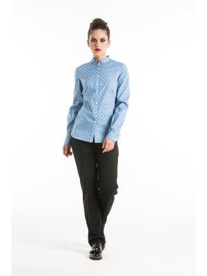 Блузка YULIA'SWAY. Цвет: голубой