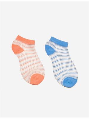 Носки Jennyfer. Цвет: голубой, коралловый