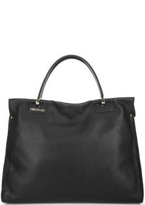 Кожаная сумка с двумя отделениями Gironacci. Цвет: черный