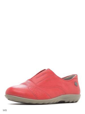 Туфли WOODLAND. Цвет: красный