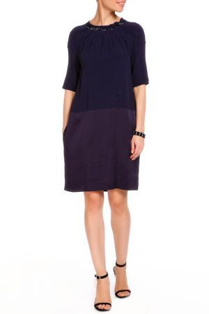 Платье VDP CLUB. Цвет: темно-синий
