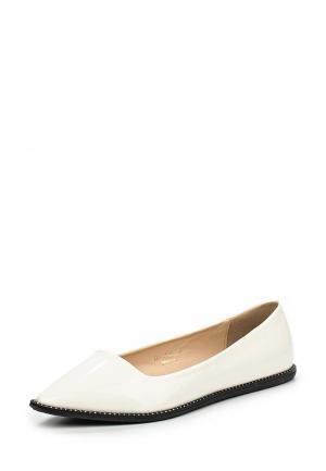 Балетки Ideal Shoes. Цвет: белый