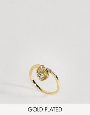 Rock 'N' Rose Кольцо с кварцем. Цвет: золотой