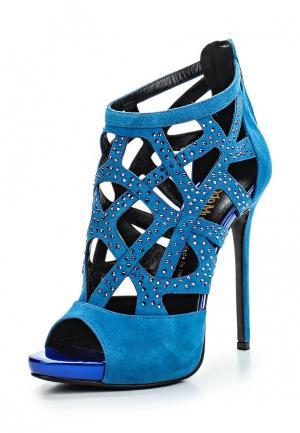 Босоножки Nando Muzi. Цвет: голубой