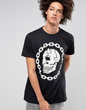 Long Clothing Oversize-футболка X Mishka Chain. Цвет: черный