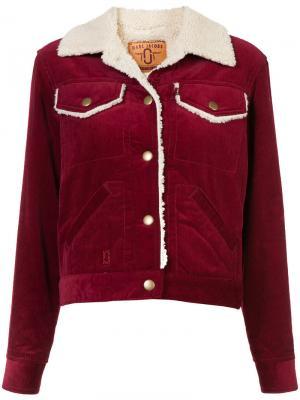 Cropped corduroy jacket Marc Jacobs. Цвет: красный