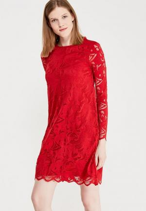 Платье Vila. Цвет: красный