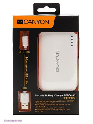 Портативный аккумулятор CNE-CPB78W, 7800 мАч CANYON. Цвет: белый