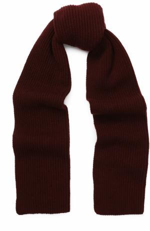 Кашемировый вязаный шарф Johnstons Of Elgin. Цвет: бордовый