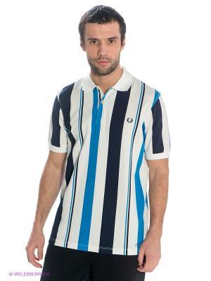 Футболка-поло Fred Perry. Цвет: белый, темно-синий, синий