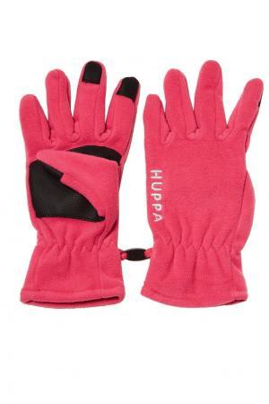Розовые перчатки с логотипом Huppa. Цвет: розовый